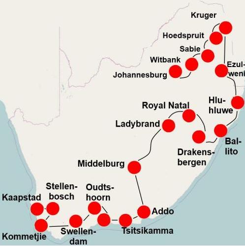 Camperreis Zuid Afrika (23 dagen): van Johannesburg naar Kaapstad