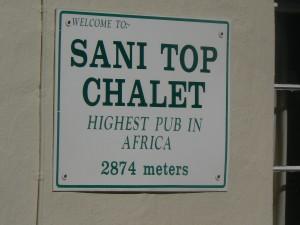 Sani Pass: Top chalet